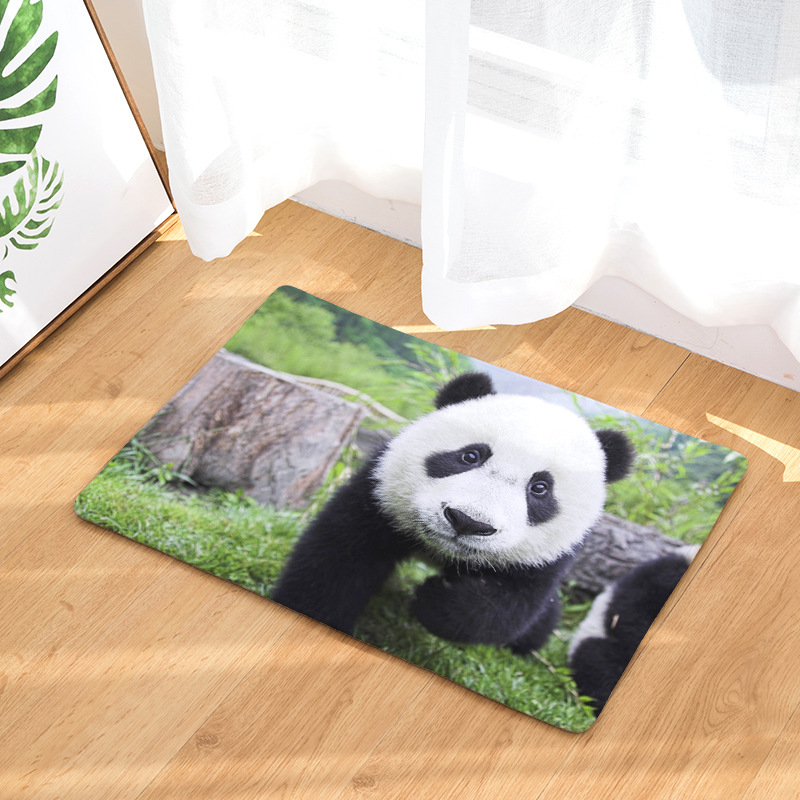 CAMMITEVER Lovely Panda Rug Carpet Polyester Rug Non-slip Floor Mat Door Mats For Bedroom Bathroom Kitchen Door Mat Drop Ship
