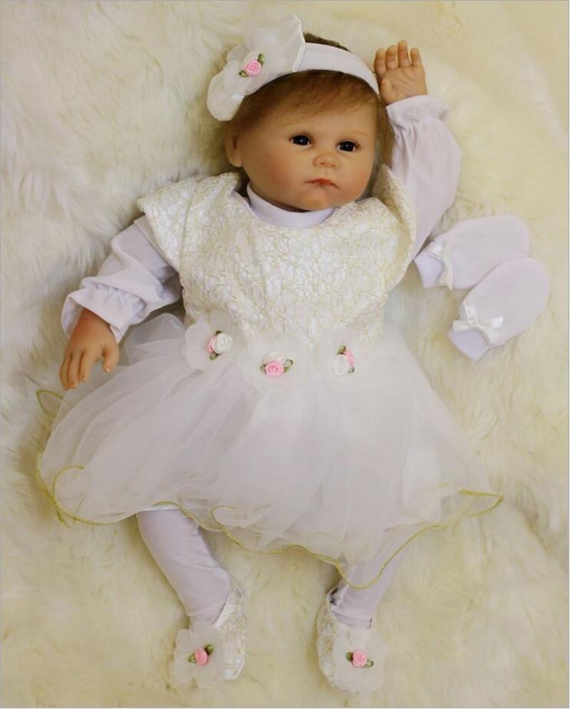 Lifelike Simulation Handmade Realistic Baby Girls Dolls 50cm Doll Silicone Reborn Bebe Reborn Babies Toys Boencas