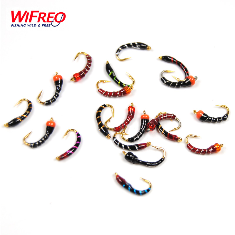 все цены на Wifreo #16 Buzzer Fly Gold Hook Nymphs for Fly Fishing Nymphing Nymph Rigs Making Customized онлайн