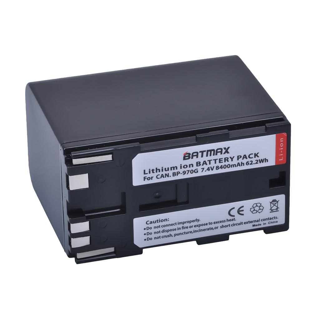 1Pc 8400mAh BP-970G BP970G BP 970G, BP-975 Battery for Canon EOS C100,EOS C100 Mark II, EOS C300, EOS C300 PL, GL2, XF100, XF105 canon bp 970g