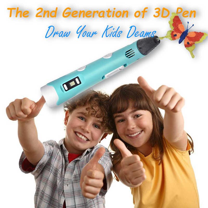 KidsTime, bolígrafo 3D, impresora 3D, dibujo garabatos, lápiz de impresión con filamento PLA colorido para niños, regalos DIY para niños