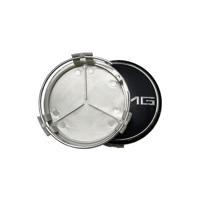4 unids coche 75mm 3D pegatinas rueda Center Hub Cap cubierta para Mercedes Benz W211 W203 W204 W124 w210 W220 W201 AMG