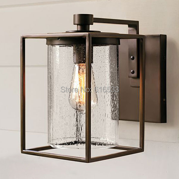 Loft Vintage Nostalgic Industrial Lustre Clear Glass Edison Wall Sconce Lamp Bathroom Beside Bedroom Home Decor Modern Lighting