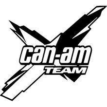 Автомобильная наклейка Can am team 18*16,1 см, новый стиль, популярный корпус, автомобильные аксессуары, крутая графика, Виниловая наклейка, автомобильный Декор