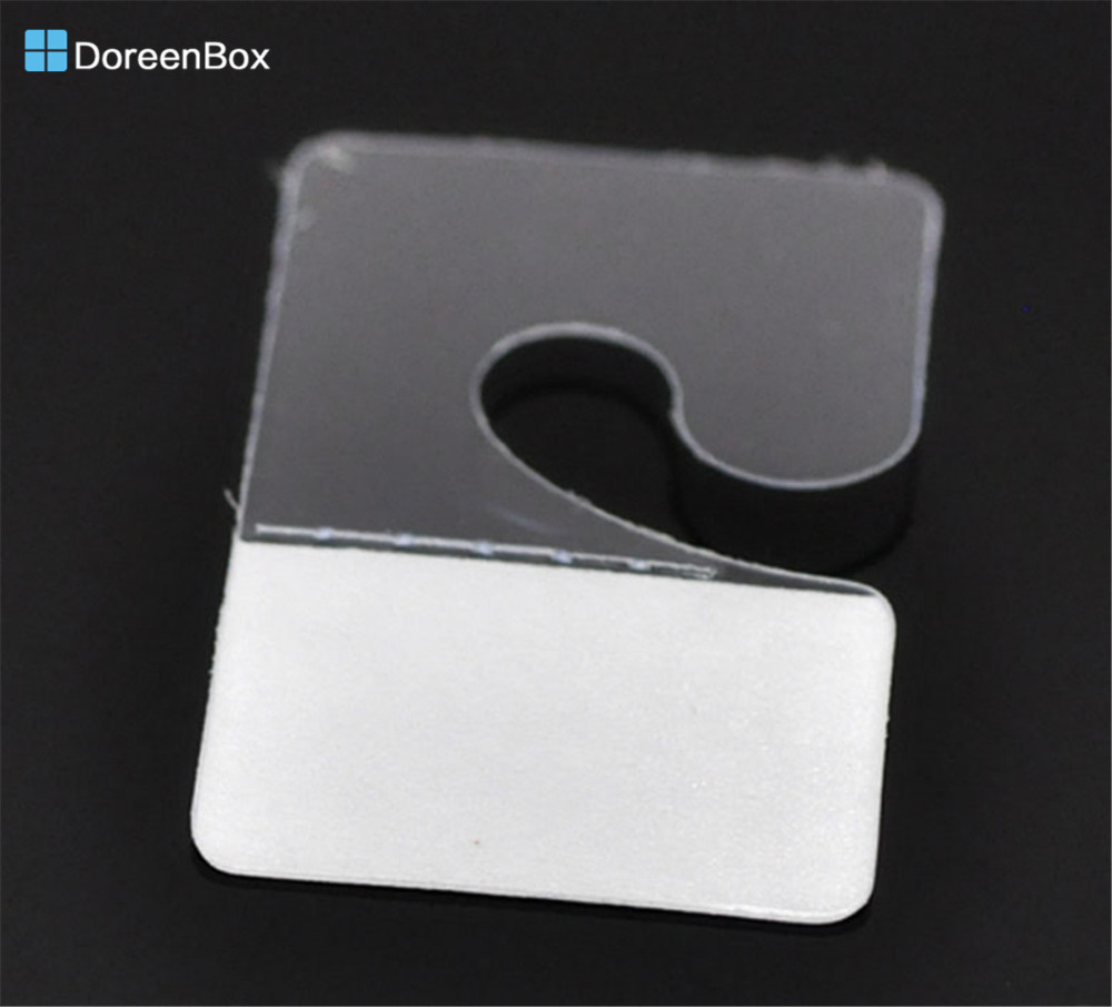 Doreen Box Hot-  100PCs Jewelry Hanging Display Cards With Adhesive 4.2x2.7cm(1 5/8