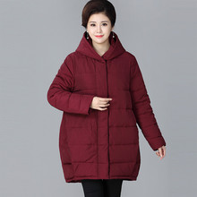 New Women Winter Jacket Loose Clothing Hooded Collar Warm Coat Women's Parkas Female Outerwear TOP Quality Plus Size