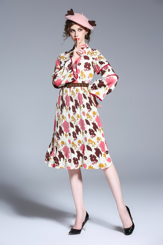 Платья ниже колена на осень