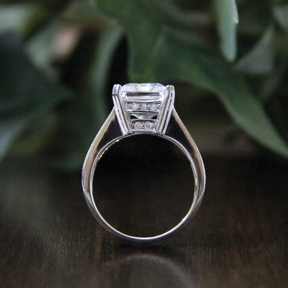 6 22ctw cushion cut simulated 925 sterling silver