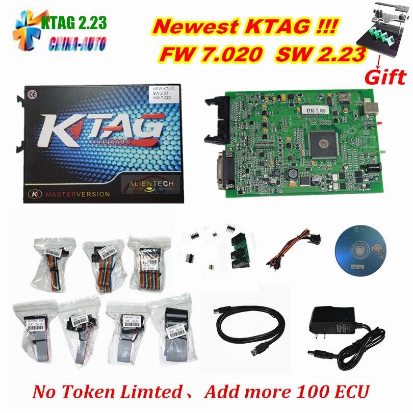 Лидер продаж KTAG 7.020 Чип ECU Тюнинг k тег v7.020 v2.23 мастер версия для автомобиля грузовик KTAG Инструмент программирования ECU ECM как подарок