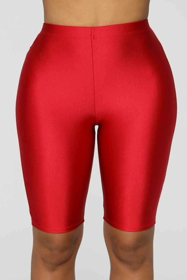 Kobiety Stretch Biker spodenki rowerowe treningu elastan legginsy kolano długość krótkie spodnie kobiety lato krótkie spodenki damskie
