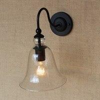 빈티지 벽 조명 조명 침실 다 이닝 거실 통로 침대 발코니 카페 sconce 고정 장치에 대 한 명확한 유리 벽 램프를 maching