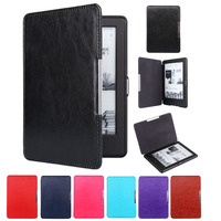 Magnet Clasp Flip Leather Case Cover For New Kindle 2016 8th Generation Fundas For Amazon Kindle