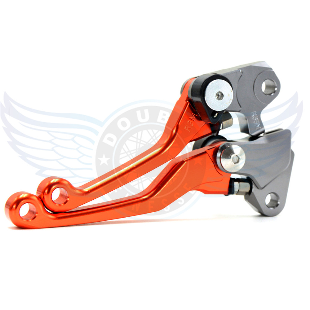 ФОТО brand new motorcycle accessories folding Pivot Levers Brake Clutch cnc orange For Suzuki RMZ 250 2005-2006
