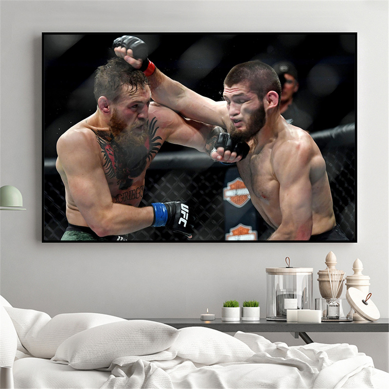 Conor McGregor Poster Khabib Modern Painting Decoration Art Print Home Decor Boxing Game Sport Canvas Pictures