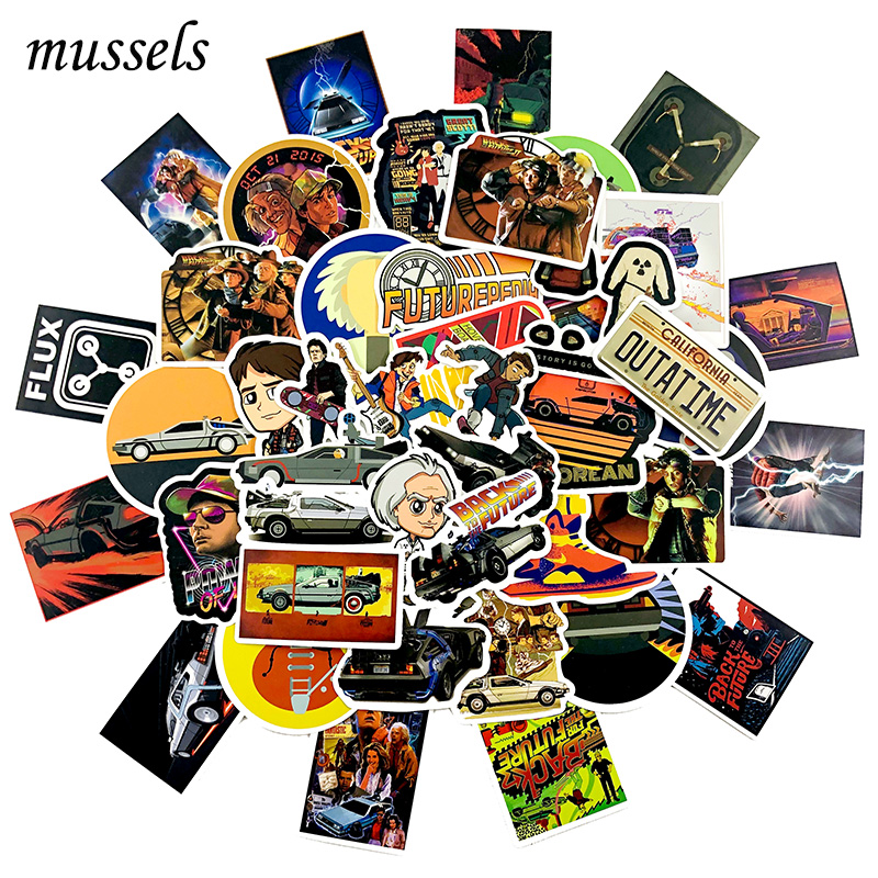 50Pcs Classic Nostalgia Movie Series Back To The Future Graffiti Sticker ForGuitar Motorcycle Skateboard Luggage Computer Laptop image