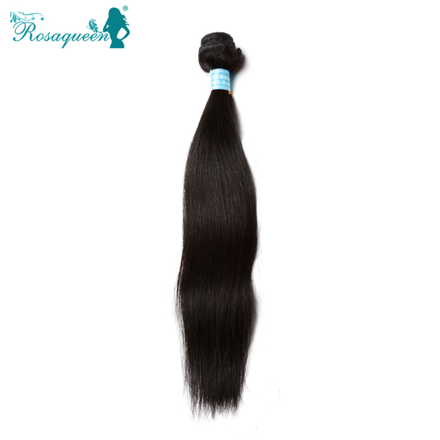 "6A Malaysian Virgin Hair Straight 1Pc Lot 100% Human Hair Weave 10""-30"" Natural Black Hair Extensions Rosa Queen Hair Products"