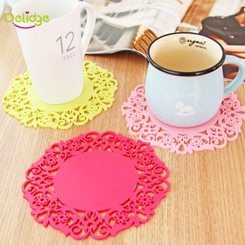 4 Pcs Lot Colorful Lace Flower Hollow Design Round