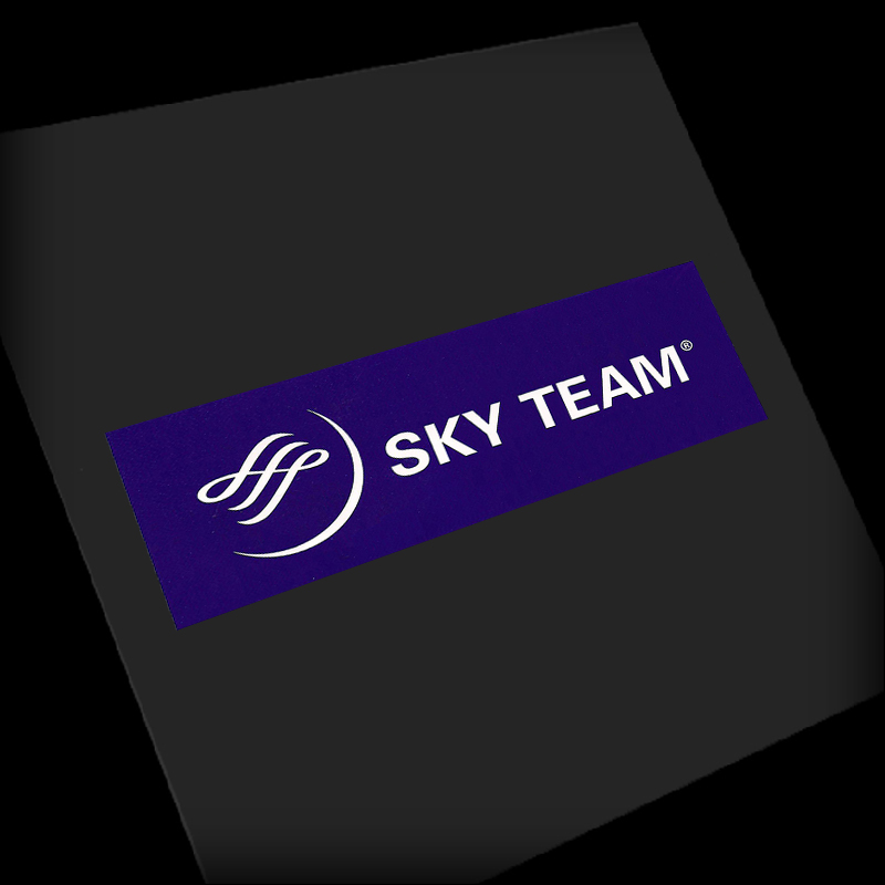 5PCS SKY TEAM Sticker Water Proof for Car Motorcycle Luggage Fridge for Aviation Lover Pilot Flight Crew