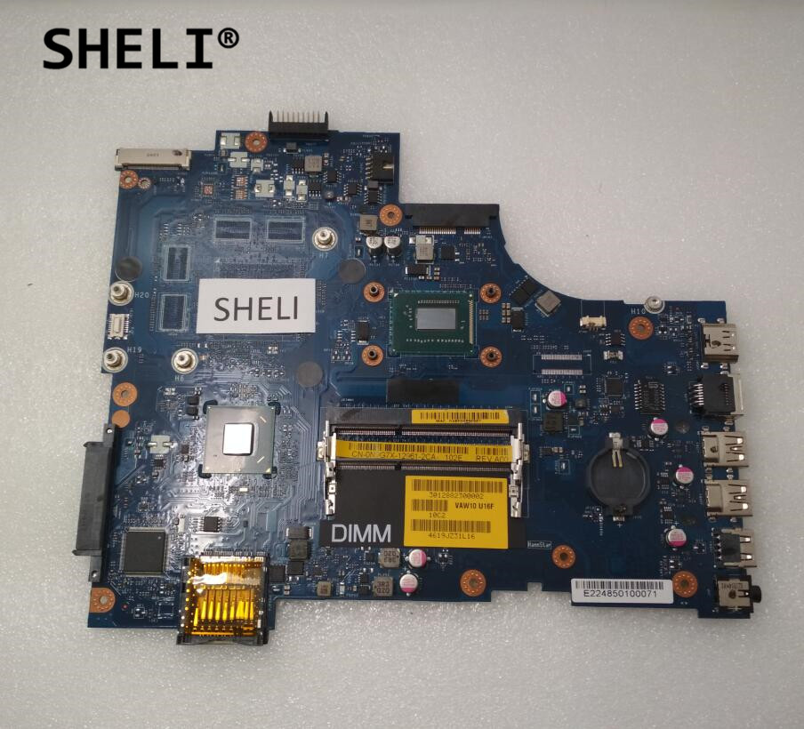 SHELI For Dell 3721 5721 Motherboard with I7-3537U LA-9102P CN-0N9G7X 0N9G7X N9G7XSHELI For Dell 3721 5721 Motherboard with I7-3537U LA-9102P CN-0N9G7X 0N9G7X N9G7X