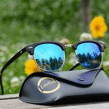 lvvkee Hot Rayeds Classic Polarized Sunglasses Fashion Men Women Brand Designe UV400 Sun Glasses Male Female Vintage sunglasses