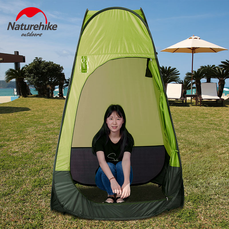 Naturehike Outdoor Camping Traveling Folding Dressing Tent Pop Up Tent Portable Automatic Quick Opening naturehike camping tent quick automatic opening washing toilet tent fishing restroom portable outdoor tent mobile bathroom