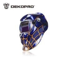 DEKOPRO Mavi Örümcek Güneş Otomatik Kararan Kaynak Elektrikli Kaynak Maskesi Kask Kaynakçı Kapağı Kaynak Makinesi için Kaynak Objektif
