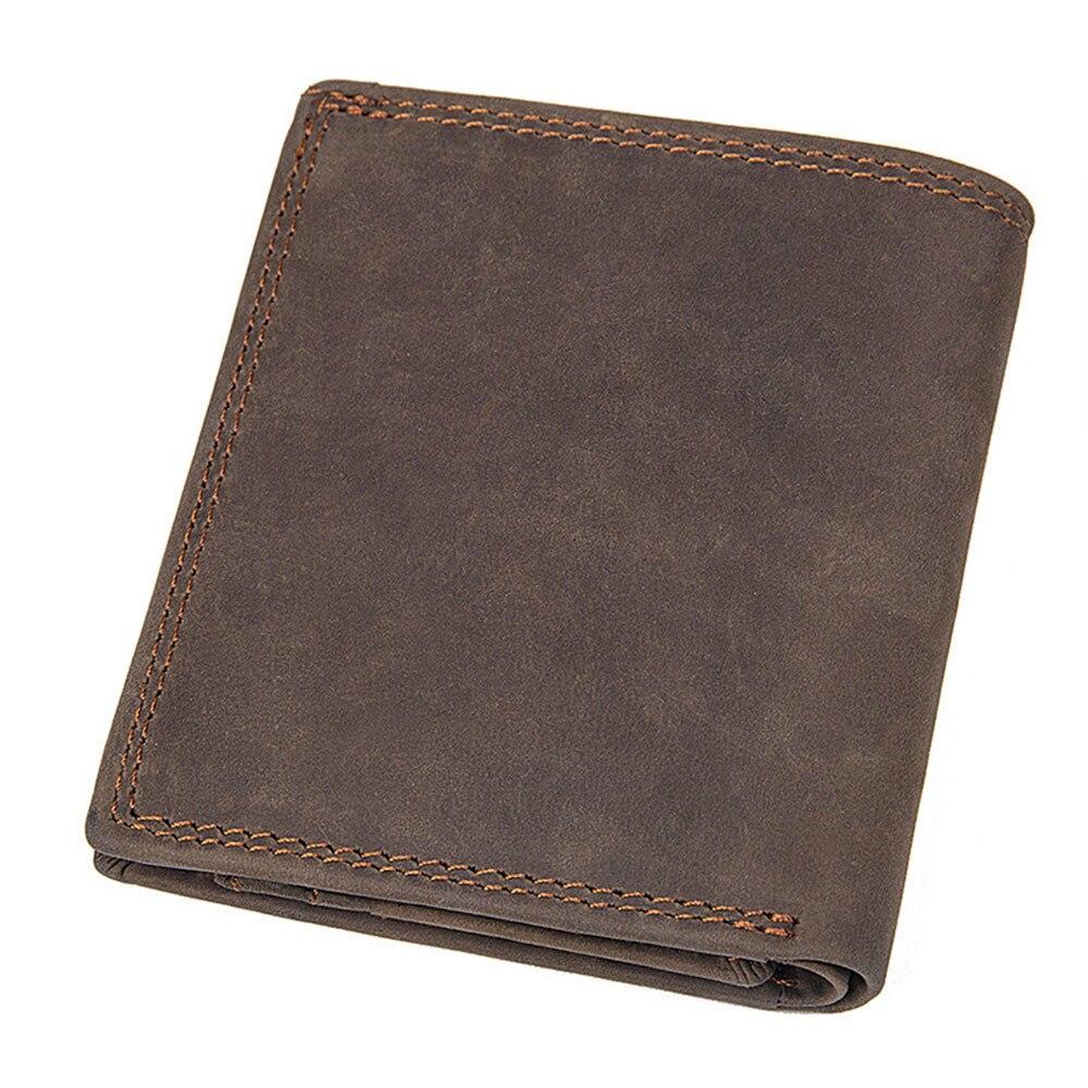 2018 Vintage Handgemachte Männer Tasche Brieftaschen Multi-funktionale Rindsleder Geldbörse Echte Crazy Horse Leder Id Halter Rfid Blocking Zur Verbesserung Der Durchblutung