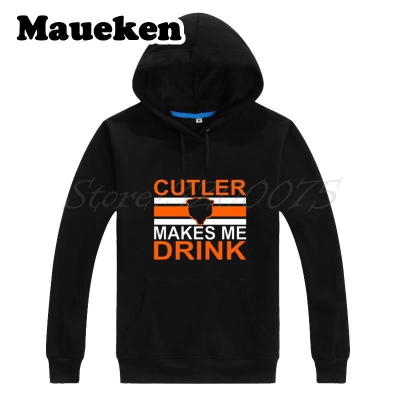 Для мужчин Толстовки Чикаго Джей Катлер #6 Катлер заставляет меня пить кофты с капюшоном толстые для любителей медведей подарок осень-зима ...