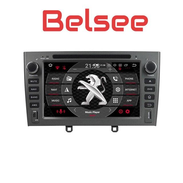 Belsee Авторадио сенсорный экран Android 8,0 головное устройство радио Автомобильный gps навигация Мультимедиа HD для peugeot 308 408 308SW 2007-2010