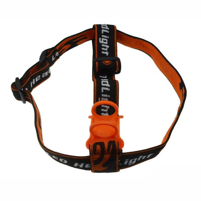 Adjustable Nylon Frontal Head Strap Flashlight Head Band Strap for LED Flashlight to Headlamp Elastic Strap