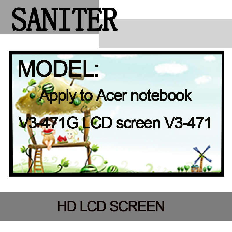SANITER Apply to Acer V3-471G LCD screen V3-471 display 14 inch ultra-thin 40-pin Laptop LCD Screen saniter ltn140kt08 801 apply to samsung np700z3a s03us special 14 inch high score laptop lcd screen