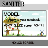 SANITER Apply to Acer V3 471G LCD screen V3 471 display 14 inch ultra thin 40 pin Laptop LCD Screen