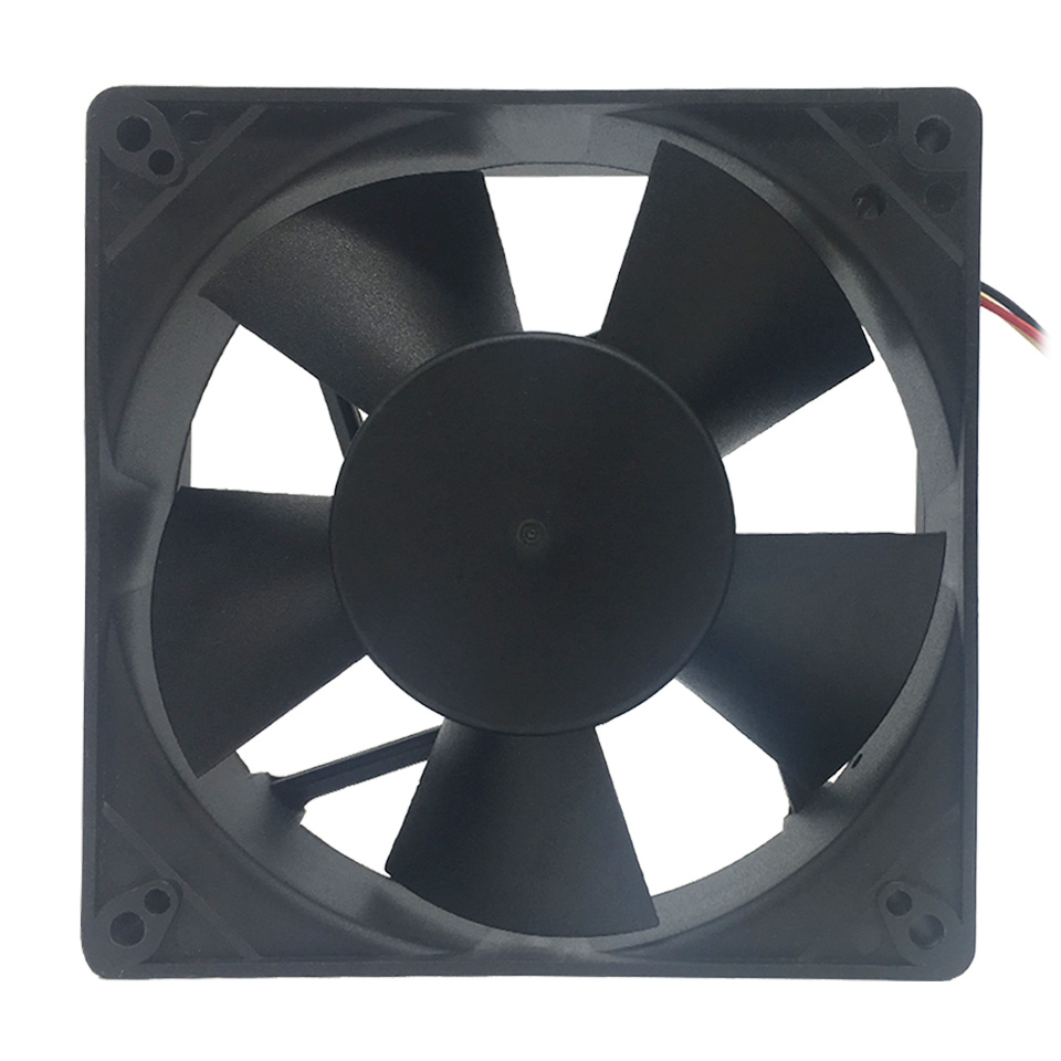 все цены на NEW F12738 127mm Axial Cooling Fan Large Air Flow 3650RPM Two Ball Bearing 12V 10W Fan Cooler 3-Pin Fan Connector Cooling System онлайн