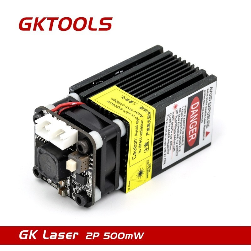 FB04 405nm, 500mW 12V Laser Engraving Machine Dedicated Laser Module, With TTL And PWM, Can Control Laser Power And Adjust Focus