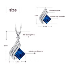 925 Sterling Silver Necklace Earrings Set Embellished with Crystals from Swarovski