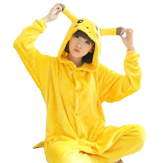 b05858ae3 Pijamas de invierno pijamas de animales traje de una pieza parejas onesie  unisex amarillo Pikachu Primark