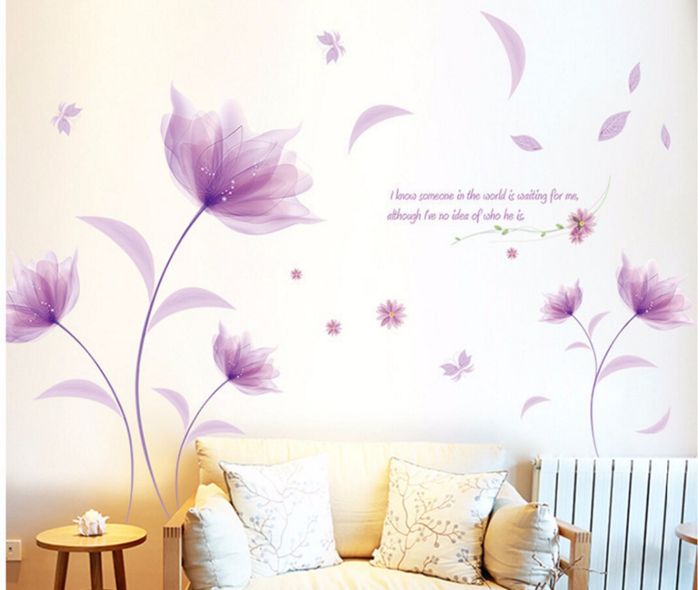 New Arrival DIY Large Wallpaper For Pink Butterfly Flower Tree ...