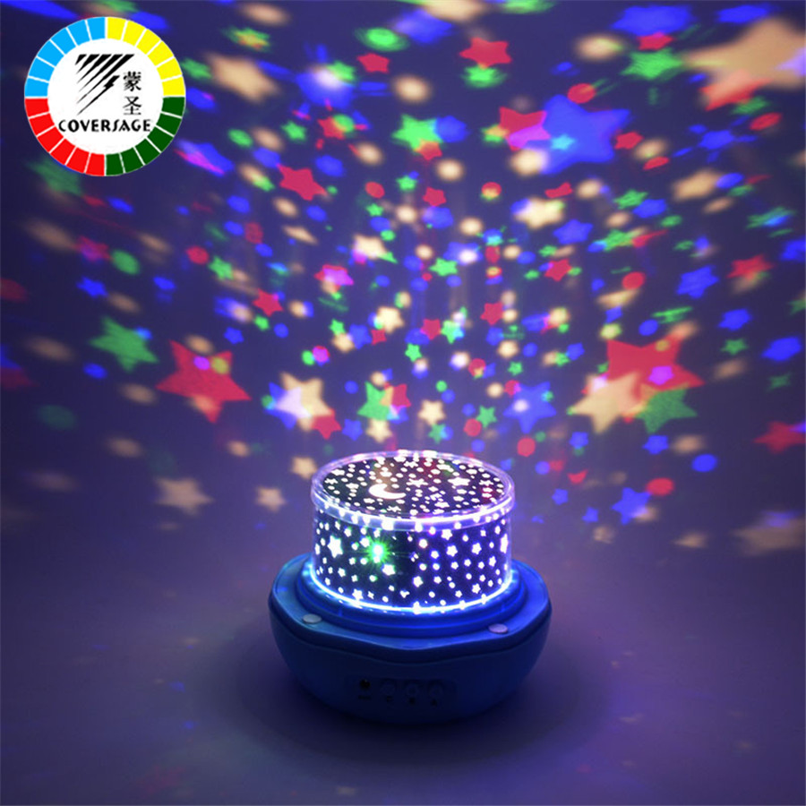 Coversage Rotating Night Light Projector Star Moon Master Baby Kids Sleep Lamp Led Indoor Lighting Birthday Romatic Projection