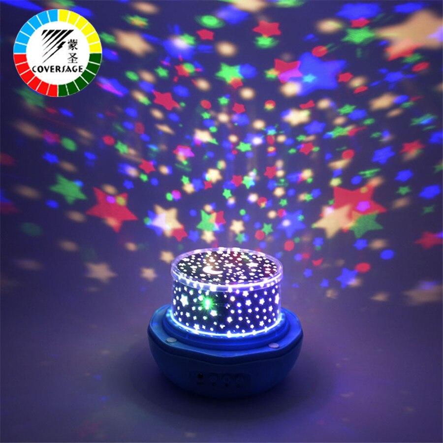 Coversage giratoria luz de la noche proyector Star Moon Master bebé niños dormir lámpara led interior Iluminación cumpleaños romántica proyección