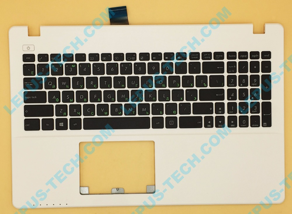 RU Russian Keyboard For ASUS X550 X550VC X550V A550 Y581C K550V R510V F550V Top Cover Upper Case Palmrest 90NB02G3-R31RU0 White цена и фото