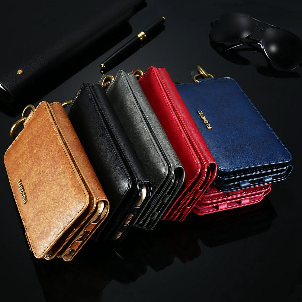 FLOVEME Luxury PU Leather Wallet Case For iPhone 6 6S 7 8 Plus 5S SE Flip Stand Case For iPhone X XR XS Max 11 Pro Max Bag Cover in Wallet Cases from Cellphones Telecommunications