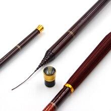 Telescopic Fishing Rod High Carbon Fiber Stream Rods Ultra-light Hard Carp Hand Pole Nylon-wire Handhold Fishing Pole 2.7-7.2M