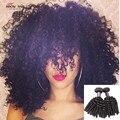 Перуанский Вьющиеся Волосы Афро Кудрявый Вьющиеся 3 Пучки Сделок 7А Необработанные Перуанский Девственные Волосы Афро Волна Вьющиеся Перуанской Волосы Девственницы
