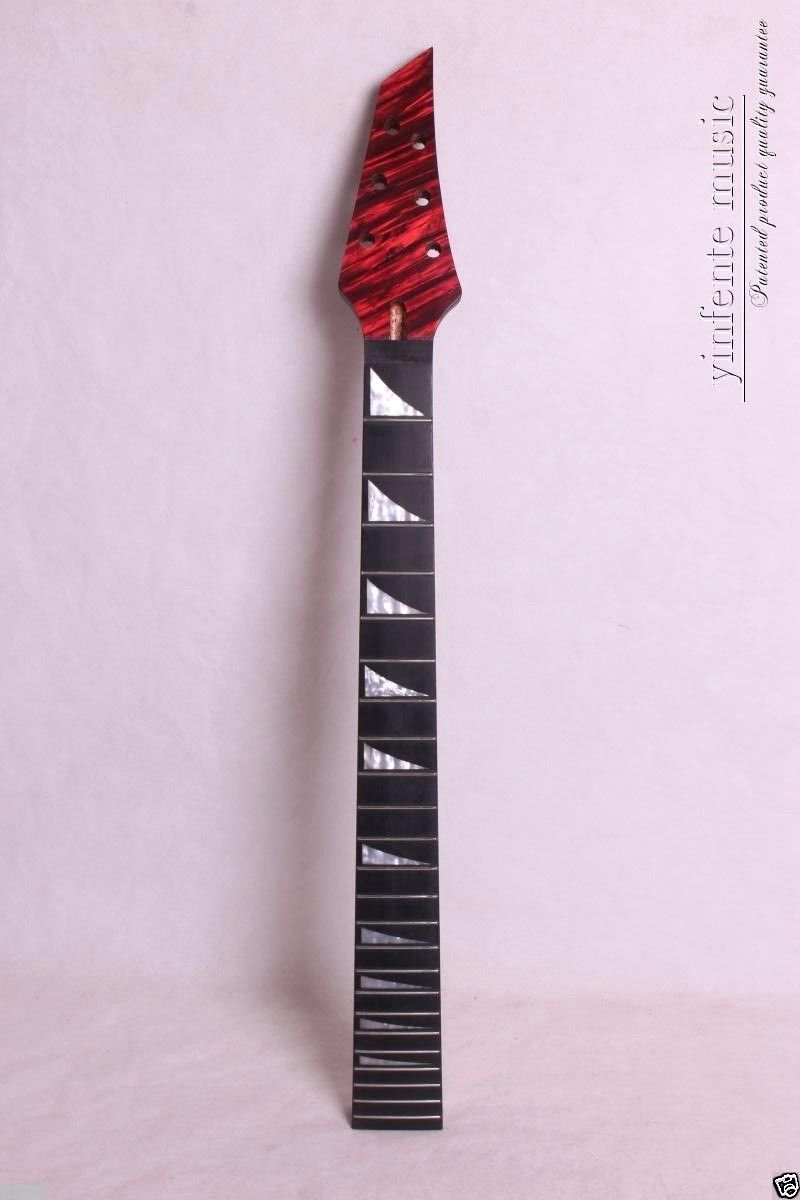 Electric guitar neck soild wood Truss Rod 24 fret 25.5 End product high quality electric guitar neck truss rod adjustmrnt 440mm guitar parts wholesale