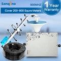 Sanqino Signal Booster GSM 900 MHz Repetidor de 1000 Metros Quadrados de Área de Cobertura, Hight Ganho 75dbi Com MGC Amplificador 25dBm
