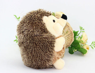 Cute Soft 18cm Hedgehog Animal Doll Stuffed Plush Toy Gift Children Kid Home