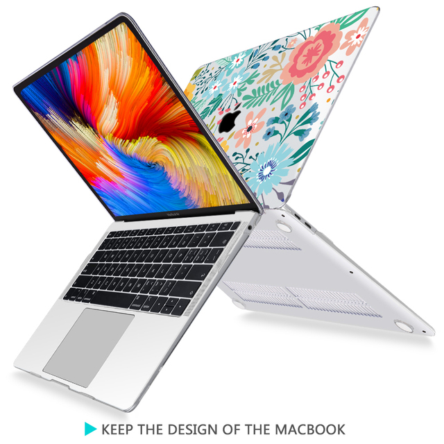 Redlai Colorful Flowers Case for MacBook 1
