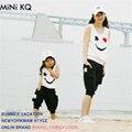 Conjuntos de Roupas de Moda Mãe de Família de Mãe e Filha combinando Mamãe Me Menina 2 pcs Roupas de Verão Da Moda Sem Mangas Tshirt + Short