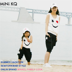 Matching mother daughter clothes sets fashion family mom girl 2pcs outfits mommy me summer fashion sleeveless.jpg 250x250