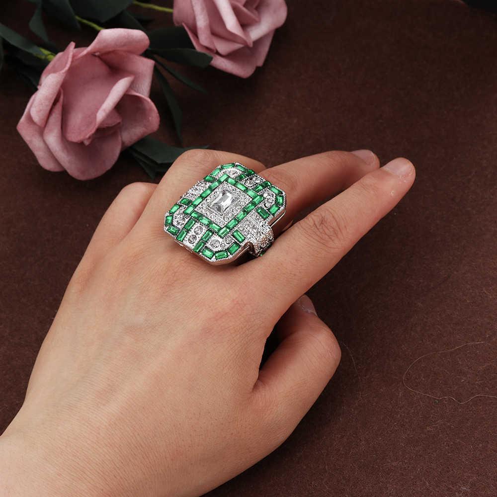 ... 1 PCS Antique Art Deco Large 925 Sterling Silver Blue   Ring Women Men  Anniversary Proposal ... 340a0590a392